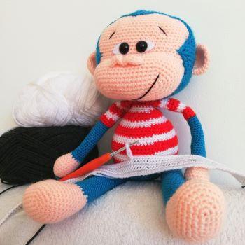 Crochet monkey pattern - 24 the best ones | Crochet Patterns and ... | 350x350
