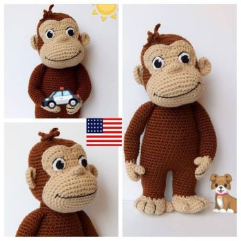 Curious George Amigurumi Pattern from TheCrochetBoxStudio