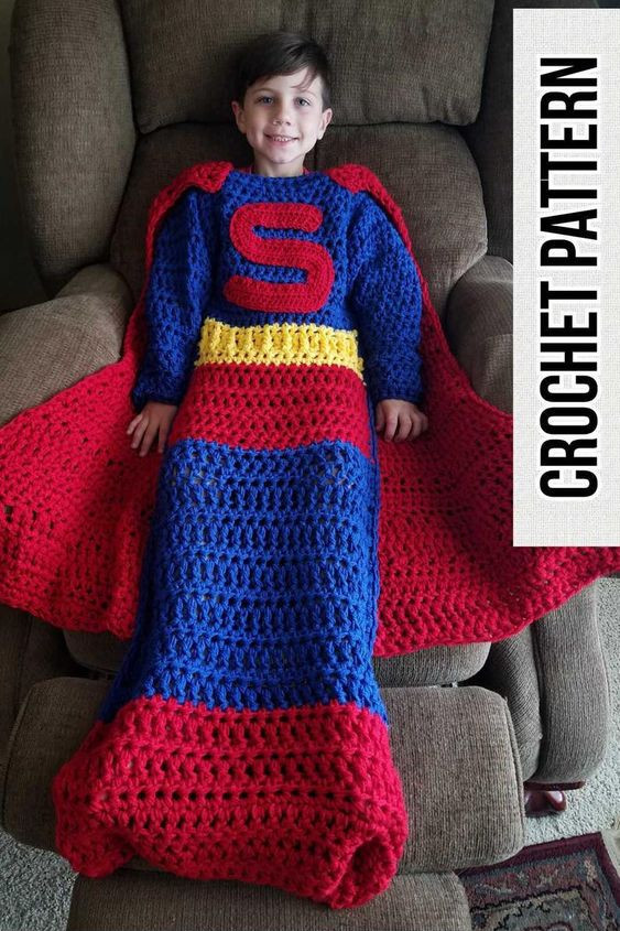 Superman blanket pattern