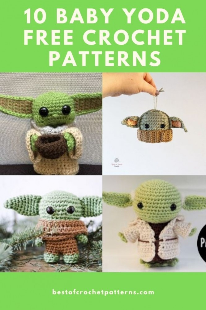 Baby Yoda 10 Free Crochet Patterns