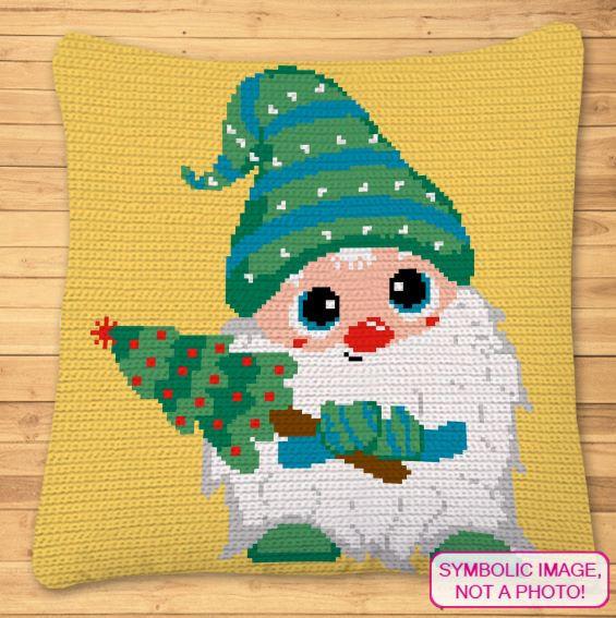 Crochet Gnome Pattern - Christmas Pillow Pattern