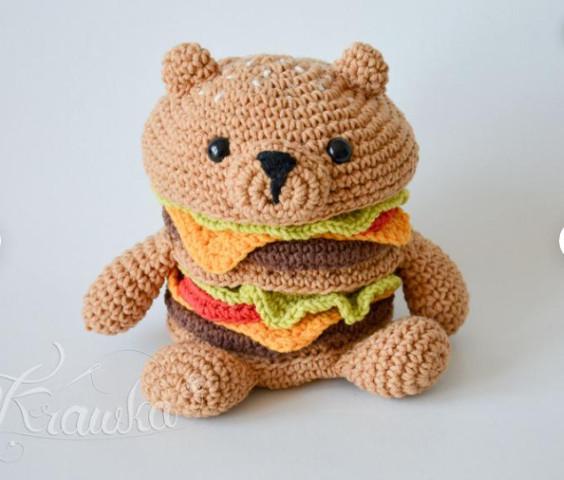 HamBEARger Crochet Pattern by Krawka