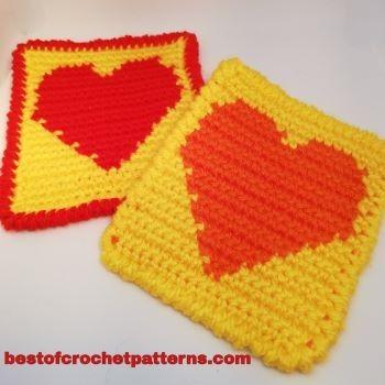 The Heart Coaster Free Crochet Pattern