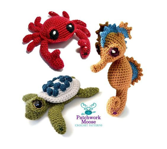 Crochet Sea Creatures by PatchworkMoose