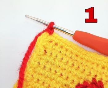 How to crochet Crab stitch - Step 1