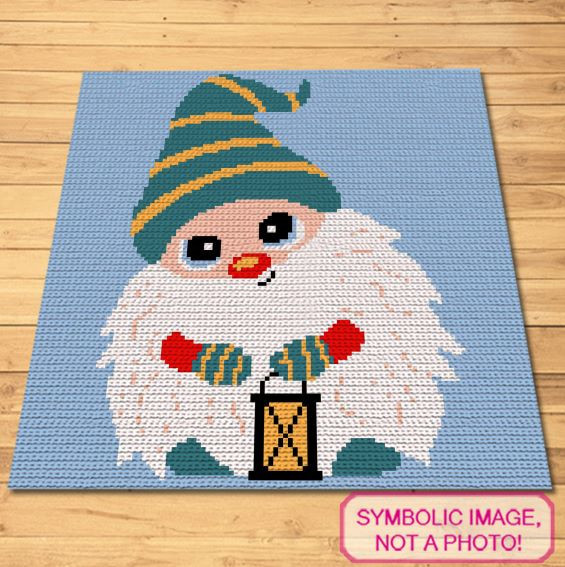 Christmas Gnome Pattern - Crochet Blanket Pattern