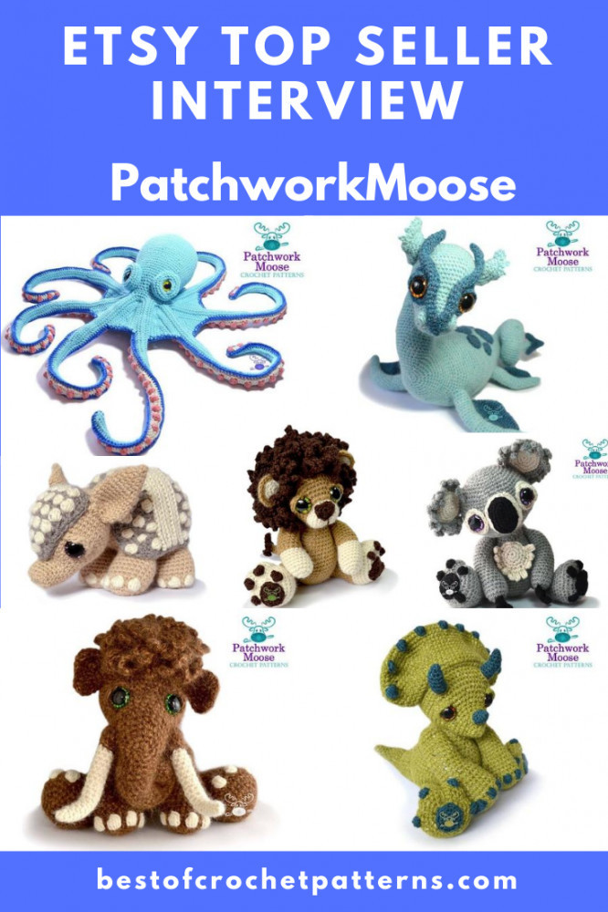 Etsy Top Seller Interview - PatchworkMoose + Free Patterns