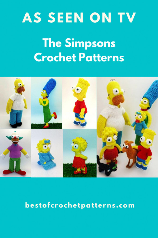 As seen on TV - The Simpsons Crochet Patterns