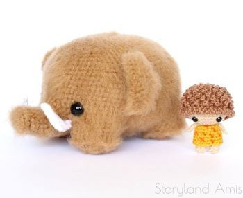 Story Land Amis - Mammoth and cave boy crochet pattern