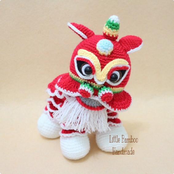 New Year Dragon Crochet Pattern by LittleBambooHandmade