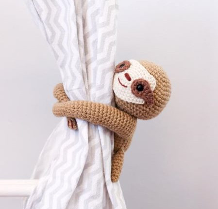 Thoresby Cottage - Sleepy sloth crochet pattern