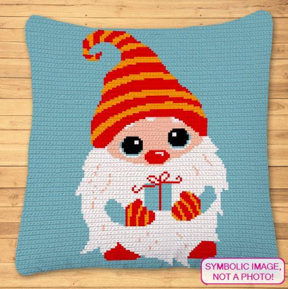 Crochet Gnome Pillow - Christmas Crochet Pattern