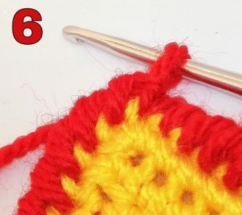 How to crochet a crab stitch - the ending