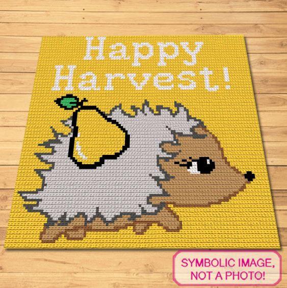Happy Harvest Crochet blanket and pillow pattern