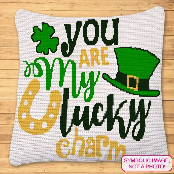 St Patricks Day Crochet Pattern - Crochet Pillow Pattern
