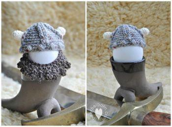 Crochet Viking egg cozy from Selbermachen Guru