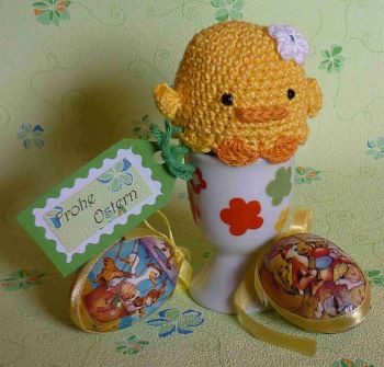 Bunny and Duck Easter egg cozy PDF by Akinna Stizu