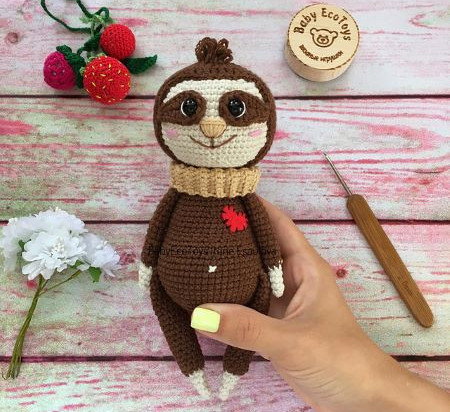 Sloth Neal free PDF download crochet pattern