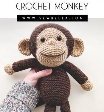 Crochet monkey from Sewerella