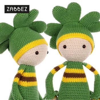 Crochet pattern amigurumi doll 'Four-leaf clover Klaus'