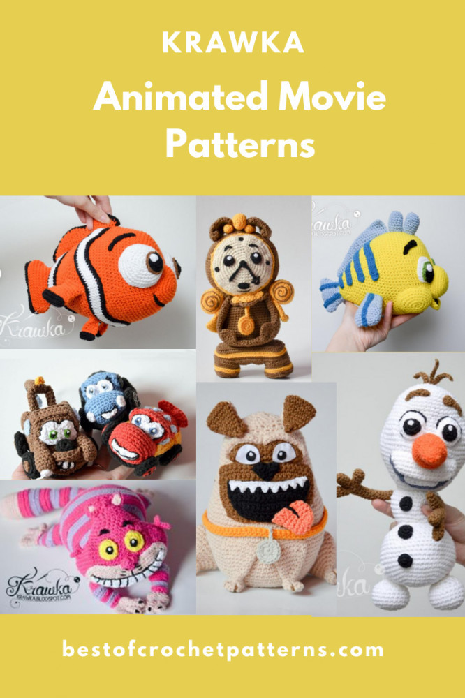 Animated Movie Crochet Patterns By Krawka
