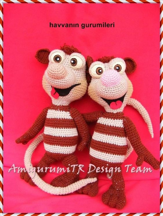 Ice Age Crash and Eddie Crochet Patterns by AMIGURUMITRDESIGN