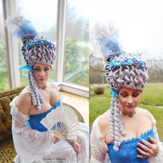 Marie Antoinette Baroque Wig Crochet Pattern