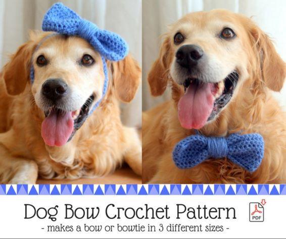 Dog Bow Crochet Pattern - Dog Halloween Costume