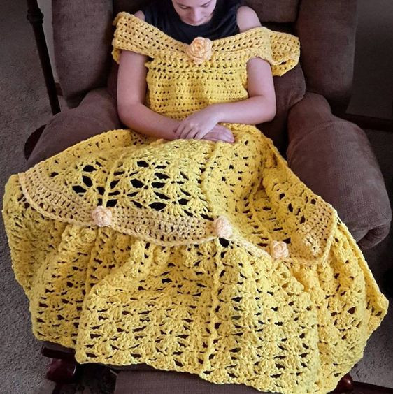 Princess Dress Blanket CarolHladikDesigns
