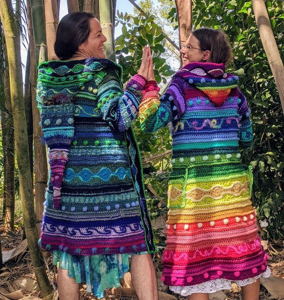 Technicolor Dream Coat  - EarthTricks Crochet Pattern