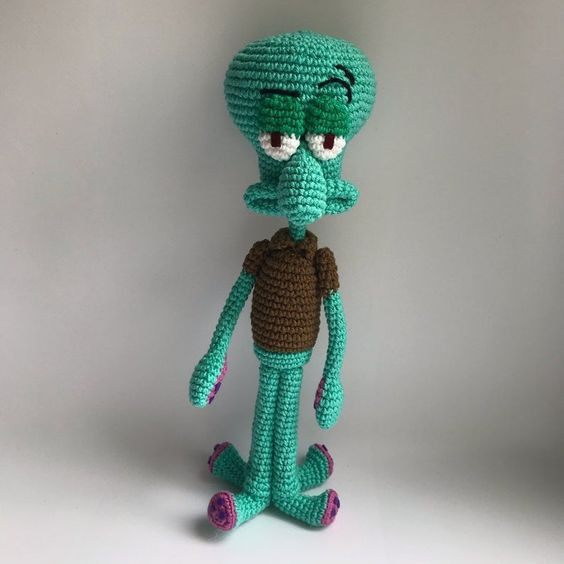 Squidward Crochet Pattern