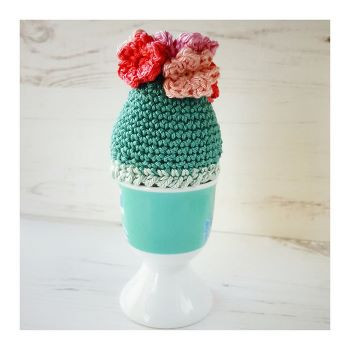 Spring flowers Easter egg cozy by Crochet Tea Party