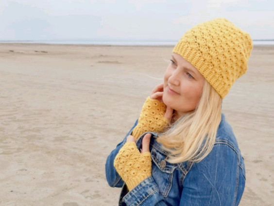 Crochet Hat and Mittens Pattern