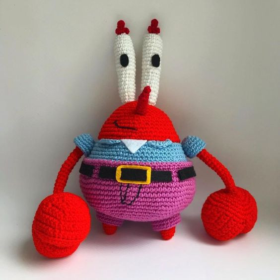 Mr.Krabs Crochet Pattern