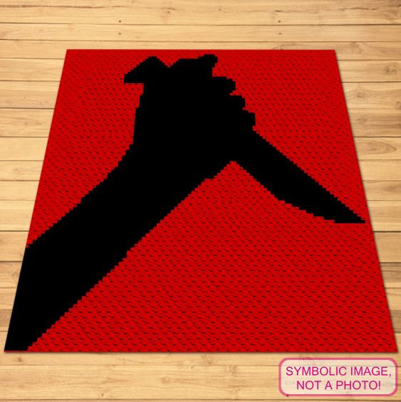 Psycho Knife Crochet pattern - C2C blanket and Pillow Pattern