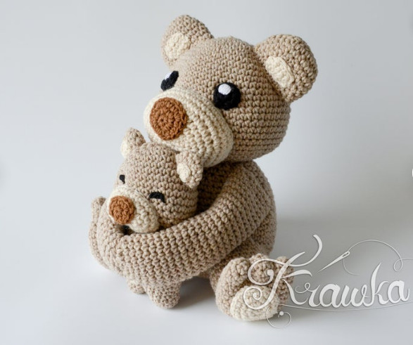 Mum an baby Bear Amigurumi Crochet Patterns - Krawka