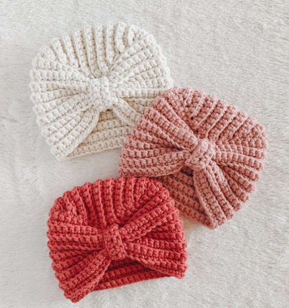Crochet Baby Turban Hats - Croby Patterns