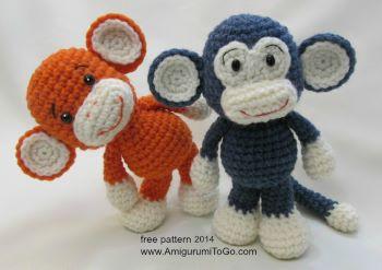 Little big foot monkey from Amigurumi To Go