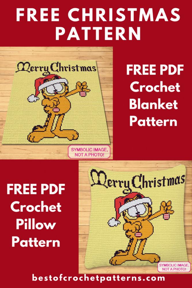FREE Christmas Crochet Pattern - FREE Garfield Pattern