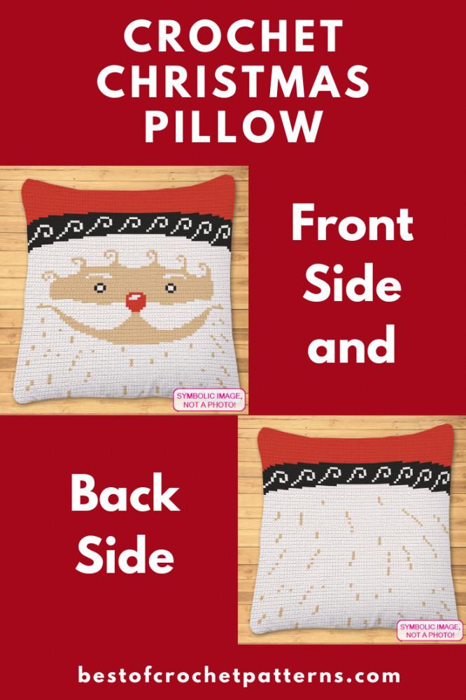Crochet Christmas Pillow Pattern - Crochet Santa Pattern