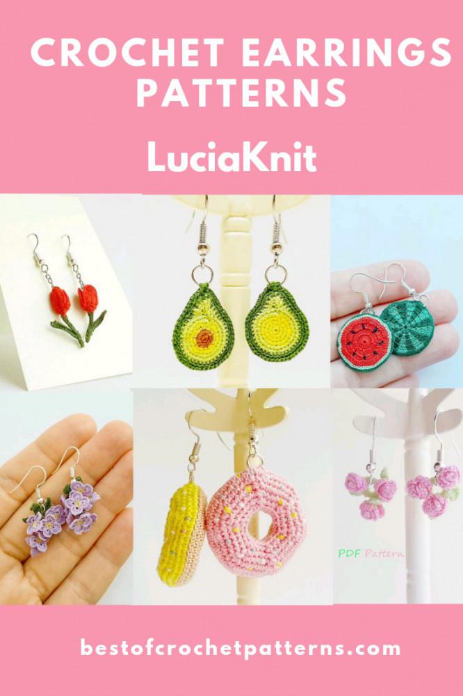 Crochet Micro Earrings Pattern - LuciaKnit