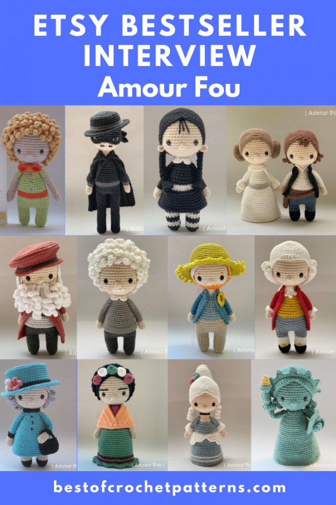 Etsy bestseller interview Amou Fou + FREE Patterns