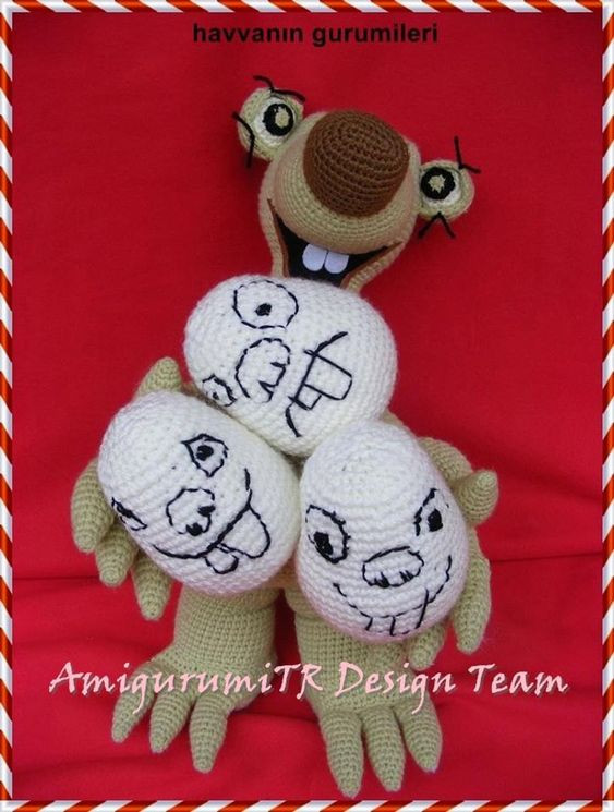 Ice Age Sid Crochet Pattern by AMIGURUMITRDESIGN