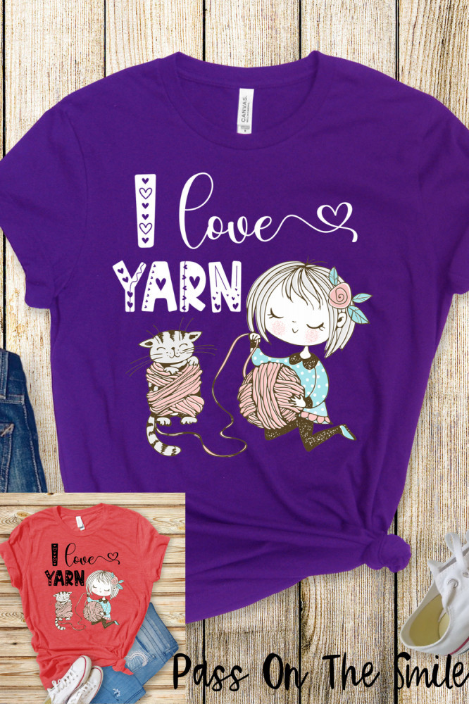 Crochet Shirt, Yarn Shirt, Cute Gift for Crafter