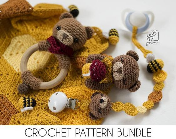 YarnWaveShop crochet pattern bundle