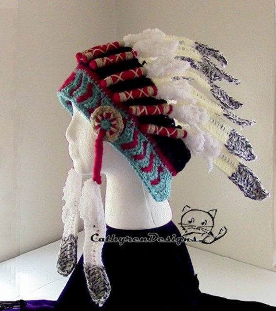 Crochet Indian Headdress Crochet Pattern
