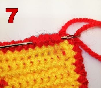 How to crochet a crab stitch - wave in the ends