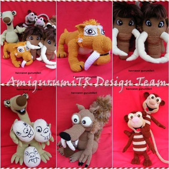 Ice Age Crochet Patterns by AMIGURUMITRDESIGN