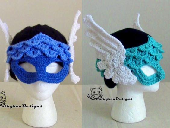 Crochet Face Mask Pattern - Halloween Crochet Pattern