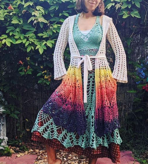 fairy queen coat - EarthTricks Crochet Pattern